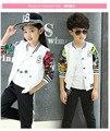 2016 children's spring and autumn clothing child male female child sports set casual fashion baseball uniform