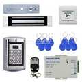 DIYSECUR Remote Control Magnetic Lock 125KHz RFID Reader Password Metal Keypad Access Control System Security Kit BC2000