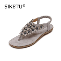 The New 2016 Bohemia Summer Sandals Flip Flops Shoes Foreign Trade Large Size Beach Shoes