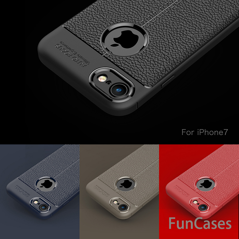 Luxury Cases For iPhone 7 Case TPU flip Leather Protective Back Full Cover For iPhone7 7 ...