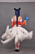 Free Shipping LOL The Nine-Tailed Fox Ahri Sexy Hanfu Game Cosplay Costume(No Tails)
