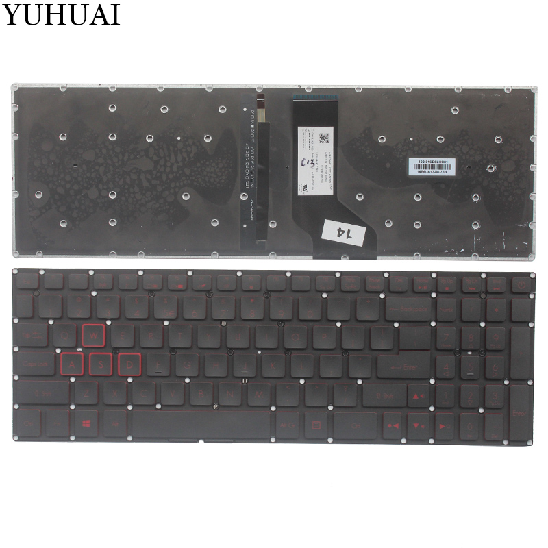 New US keyboard for Acer Nitro AN515-51 N16C7 N17c1 AN515-51-705 US laptop Keyboard with backlit new us keyboard for acer aspire vn7 793g vx5 591g vx5 591g 52wn us laptop keyboard with backlit
