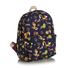 Teenage School Bags100% High-quality Waterproof  Satin New Style Casual Women/Men Plaid Backpack  Happy Foxes