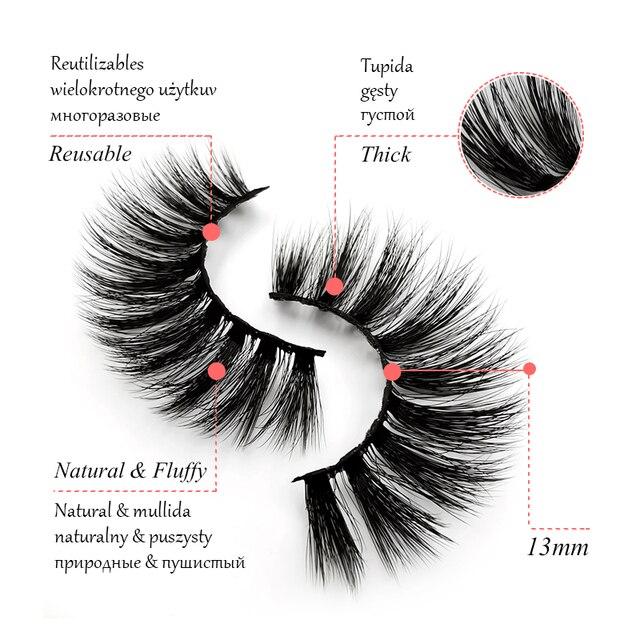 5 Pairs Mink EyeLashes 3D False Lashes winged Thick MakeupEyeLash Dramatic Lashes Natural Volume Soft Fake Eye Lashes g800 1
