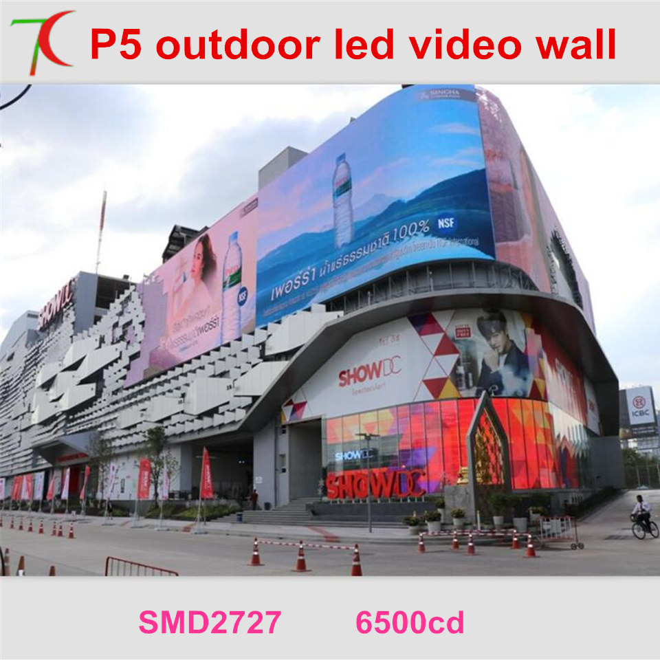Free Installation Method of P5 smd outdoor full color led video wall for advertising ...