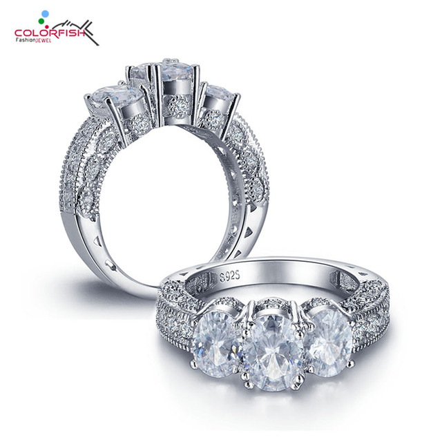 zirconia sterling image three dazzling silver jewellery wedding womens rings ring ladies cubic stone