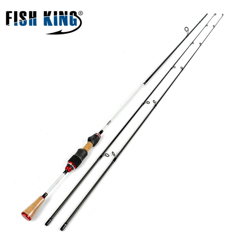 FISH KING 2 Top Tip 0.5-6/2-8g Carbon Fishing Rod Spinning Ultralight UL/L power Fast Lure rod FUJI Guide Fishing Travel Rods top 2 74m brave spinning fishing rod fuji guides 98