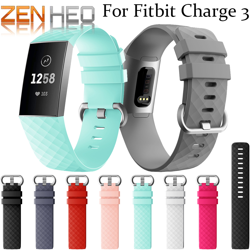 Smart Accessories For Fitbit Charge 3 Band Replacement Bracelet Strap For Fitbit Charge 3 Band Wristband For Fitbit Charge 3 New soft silicone bands for fitbit charge 2 band smart watch bracelet for fitbit charge 2 bands accessories for fitbit charge 2 band