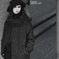 Yarn Dyed Fashion Wool Blend Fabric Worsted Wool Dot Pattern Shine Lines White Spots Black Color