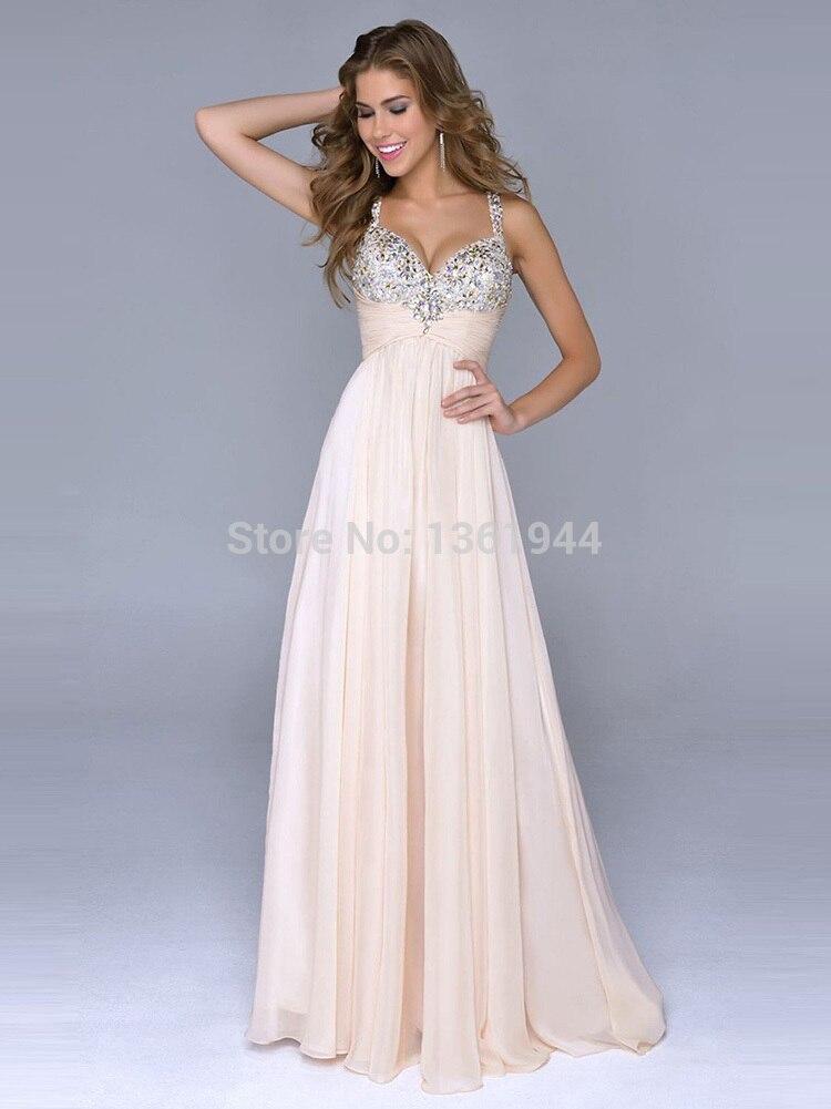 a4fe73349e Hot 2015 Vestidos De Fiesta Largos Sweetheart Spaghetti Straps Long Party  Prom Dresses Junior Girl Graduation Crystals Dress