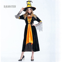 DJGRSTER 2018 Halloween Witch Costumes Christmas Carnival Clothing Fantasia Infantil Adult Fairy Costume Vampire Cosplay Costume