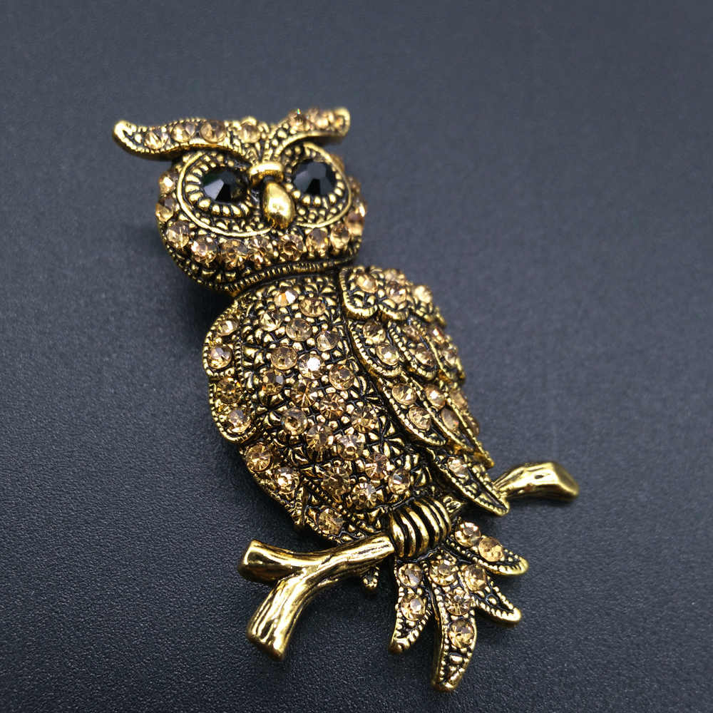 8ccd29eab56 New Fashion Brooches For Men Women Jewelry Owl Vintage Style Gold-Color  Fashion Brooch Pins