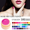 CANNI UV Gel 141 Colors Nail Art CANNI Soak Off Paint Gel UV LED Ink UV Color Gel For Nail Art Designs Pure Color Long Lasting