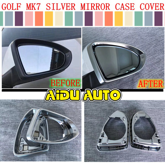 MATTE REAR VIEW SIDE MIRROR COVER FRAME CAP COVER FOR VW GOLF 7 MK7 VII