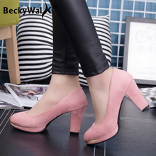 New Arrival High Heels Platform Pumps Round Toe Thick Heels