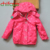 Chifave 2017 muchachas del otoño a prueba de agua caliente outwear la manera del bebé niñas niños ropa de abrigo con capucha de lunares rojo