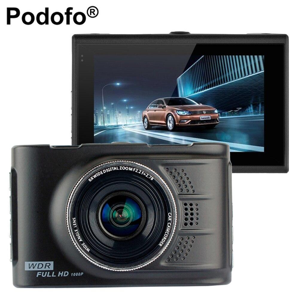 Podofo Cámara DVR dashcam 3.0 pulgadas FHD 1080 p video recorder WDR registrador FH03 blackbox vehículo automóvil DVRs Dash cam