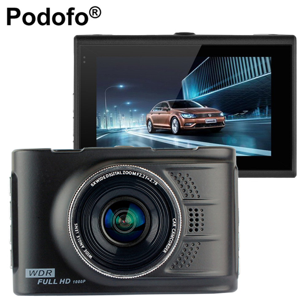 Podofo Car DVR Camera Dashcam 3.0 Inch FHD 1080P Video Recorder WDR Registrator FH03 Vehicle Blackbox Automobile DVRs Dash Cam