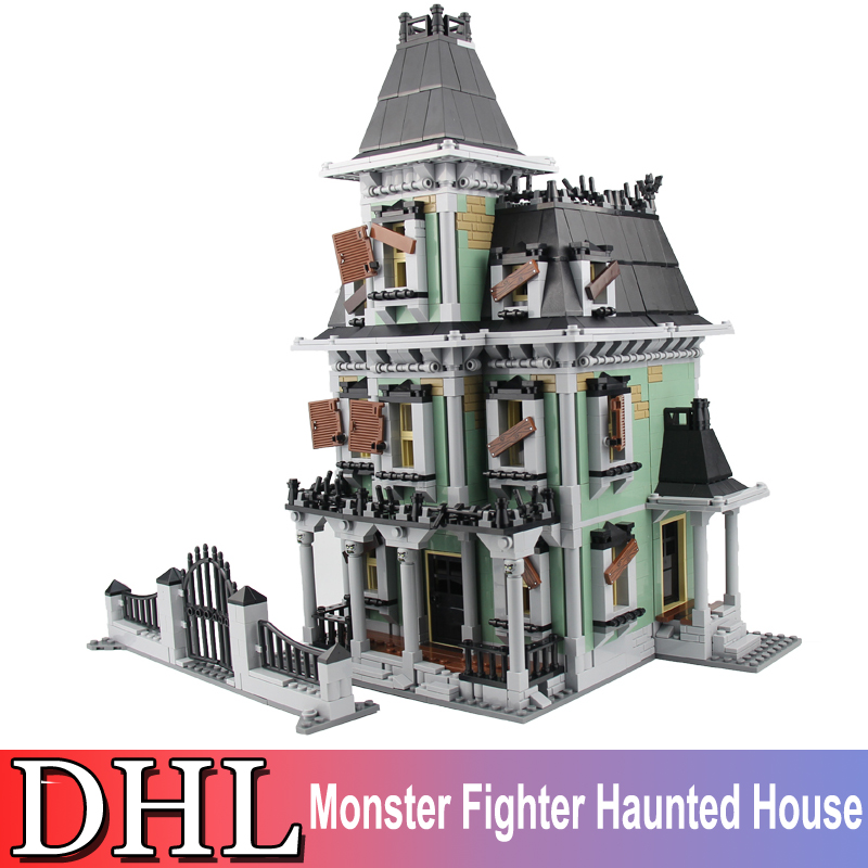 Lepin 16007 2141Pcs City Figures Monster Fighter Haunted House Building Model Blocks Bricks Set Kids Toy For Children Gift 10228 lepin 16007 2141pcs monster fighter the haunted house model set building kits model compatible with 10228 educational toys gifts