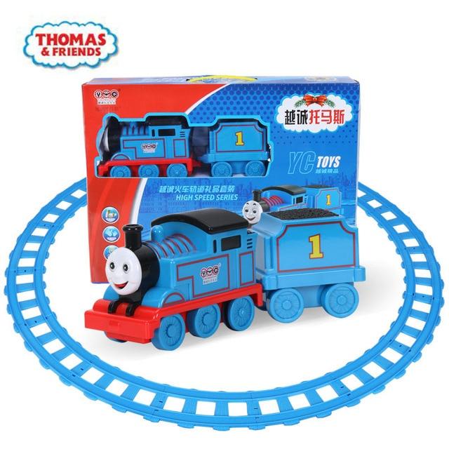 Thomas e Amigos Pequeno trem Elétrico set pista vocal pull back inércia brinquedo locomotiva brinquedo para crianças da menina do menino