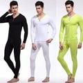Wj nuevo estilo para hombre ropa interior térmica doblete larga hombres johns y el hombre de manga larga camiseta caliente conjunto