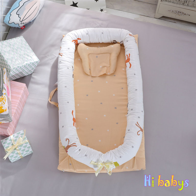 Baby Nest Bed Cot Portable Crib Baby Size Nest Nursery Travel Floding Baby Bed Infant Toddler Bedding For Newborn And Toddlers adorbaby pouch baby crib travel infant travel bed sleeper portable cot folding rocking cradle baby nest cestas para newborn h19