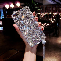 Applicable To Iphone8plus Case Fringe 7plus All Inclusive Women S Iphonex Luxury Atmospheric Drilling 6s Soft