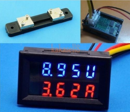 Tools 100v 50a Dc Digital Voltmeter Ammeter Led Amp Volt Meter W/shunt For 12v 24v Car Free Shipping