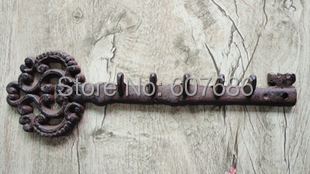 Wholesale 3 Pieces Wall Mounted Iron Key Rack Holder Metal Coat Hook for  Garden Hanging Plants