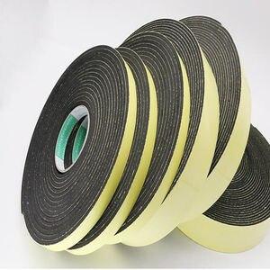 Image 1 - Strong adhesion  EVA black sponge foam  rubber tape  anti collision seal strip 1, 2, 3mm thick