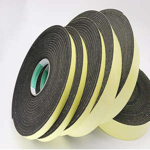 Strong adhesion EVA black sponge foam rubber tape anti-collision seal strip 1, 2, 3mm thick