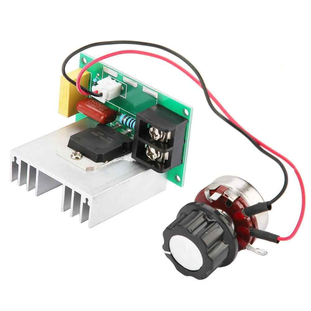 Электронный переменного тока 0-220 V 8000 W моторный накопитель переменного тока Скорость регулятор высокое Мощность Напряжение регулятор напряжения диммер