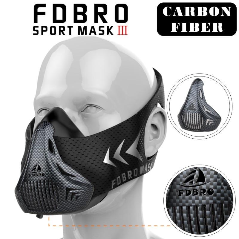 Nueva FDBRO deporte máscara embalaje Estilo negro de alta altitud capacitación acondicionado máscara deporte 3,0 con la caja del envío libre