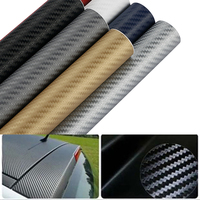 500cmx63cm Waterproof DIY Motorcycle Sticker Car Styling 3D Car Carbon Fiber Vinyl Wrap Roll Film Car Accessories Decal Film