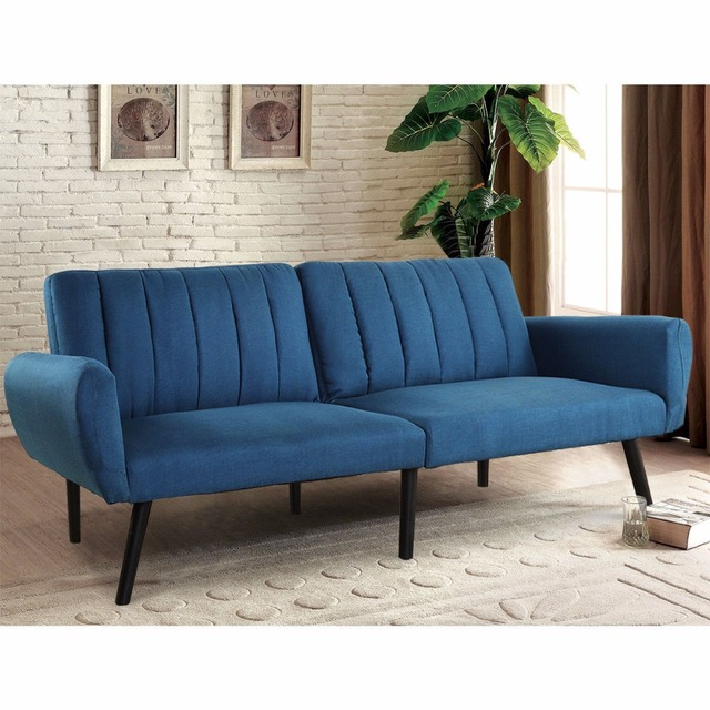 Giantex Sofa Futon Bed Sleeper Couch Convertible Mattress Premium Linen Upholstery Modern Living Room