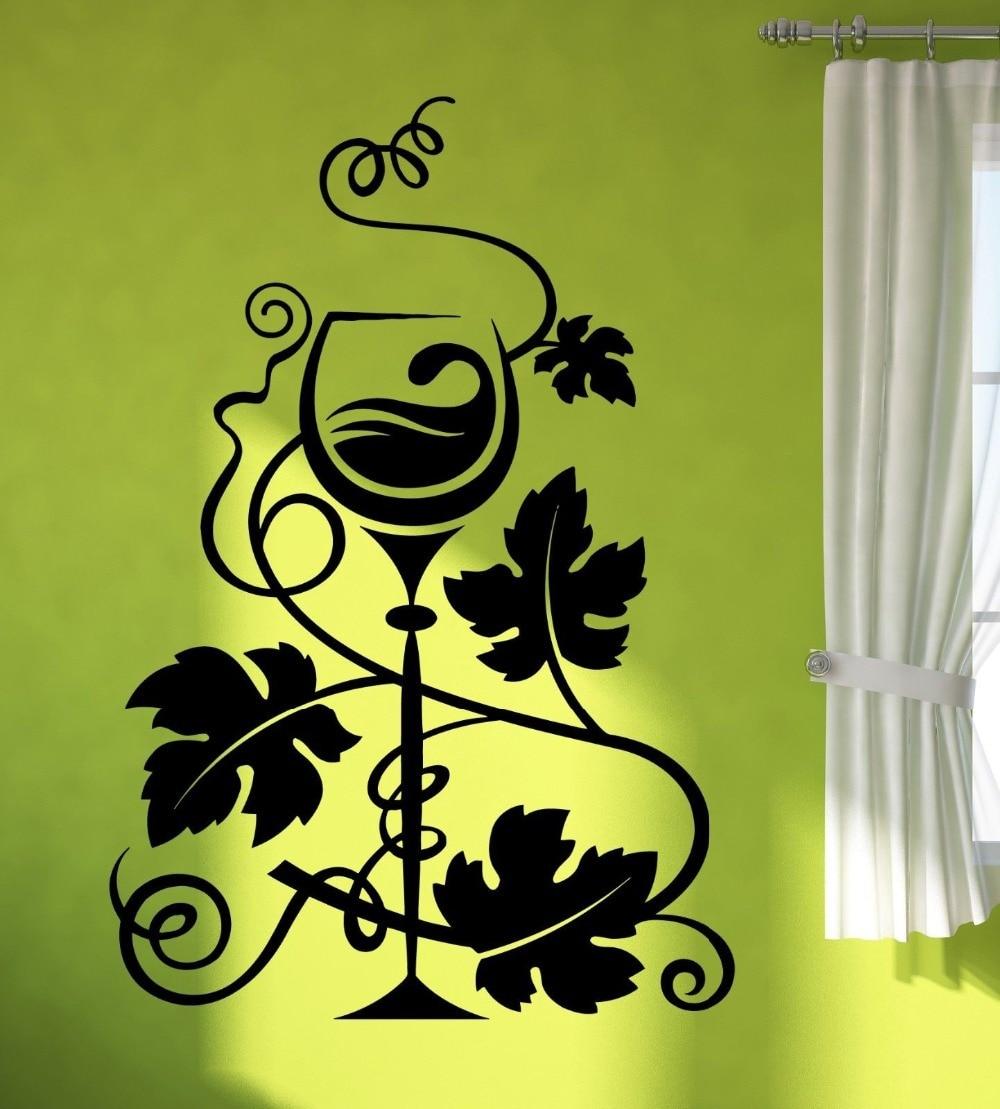 Etiqueta de la pared del vinilo uvas de vino vinificación Decoración ...