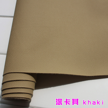 Khaki 1mm Thick Leather Faux Leather Fabric Car Interior Leather  Car Seats Leather Cushion Upholstery Sold BTY