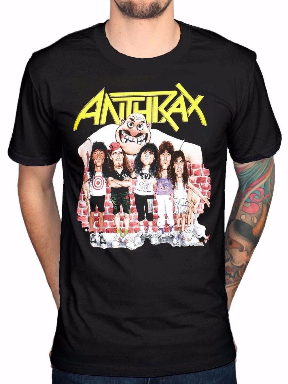 Design t shirt en ligne - T Shirt Impression Conception Gildan Anthrax Groupe De Croquis Manches Courtes Hommes Zomer Ras Du