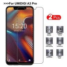 2 шт закаленное стекло UMIDIGI A3 Pro защита экрана смартфон Взрывозащищенная защитная пленка мобильный телефон для UMIDIGI A3 Pro