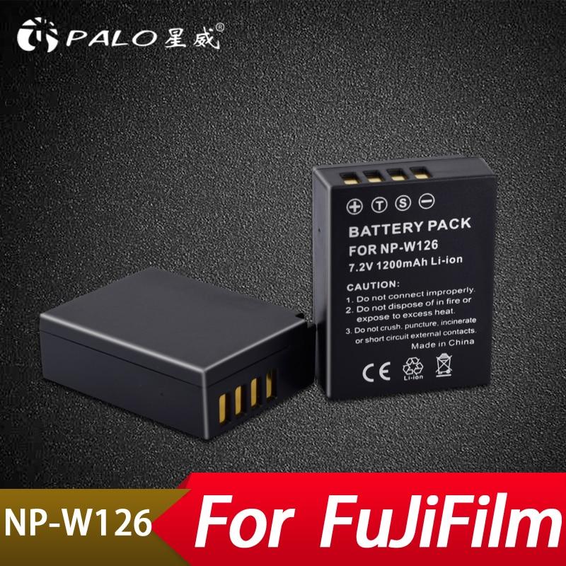Palo 2 pcs NP-W126 NP W126 NPW126 Remplacement Batteries 750 mah pour FinePix HS30EXR HS33EXR HS50EXR X-A1 X-E1 X-E2 X-M1 x-Pro1