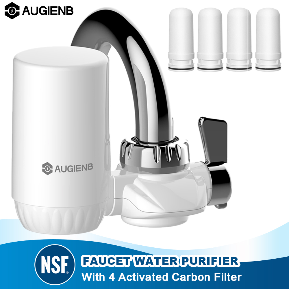 AUGIENB Kitchen Tap Faucet Water Filter Purifier  - Activated Carbon Ceramic Cartridge - Reduce chlorine, odor, Contaminants AUGIENB Kitchen Tap Faucet Water Filter Purifier  - Activated Carbon Ceramic Cartridge - Reduce chlorine, odor, Contaminants