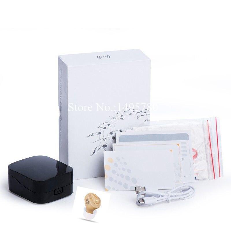 Прямая поставка; невидимые слуховые аппараты полный в ухо цифровой слуховой аппарат 2/4/6 Каналы USB Перезаряжаемые слуховой аппарат Перезаряжаемые