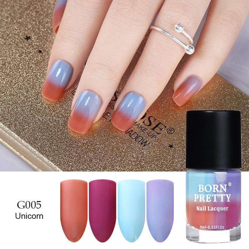 BORN PRETTY Peel Off Thermal Nail Polish Sunlight Sensitive Color ...
