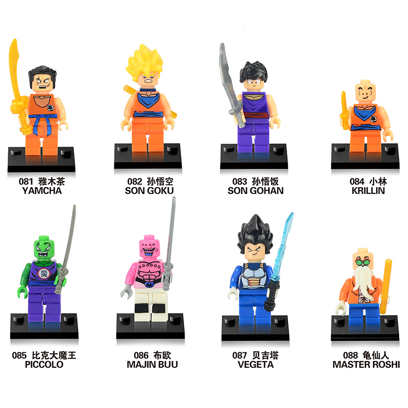 Dropshipping Dragon Ball Z Figures Goku Vegeta Perfect Cell Majin Buu Gohan Bulma Bardock Bricks Kids Toys Building Blocks