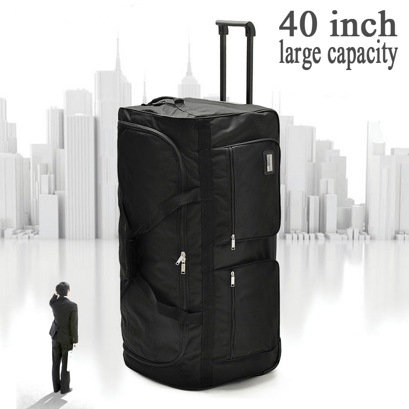 GrasoDream 32 40 Inch super large rolling luggage bag big trolley Outdoor travel bag canvas hight