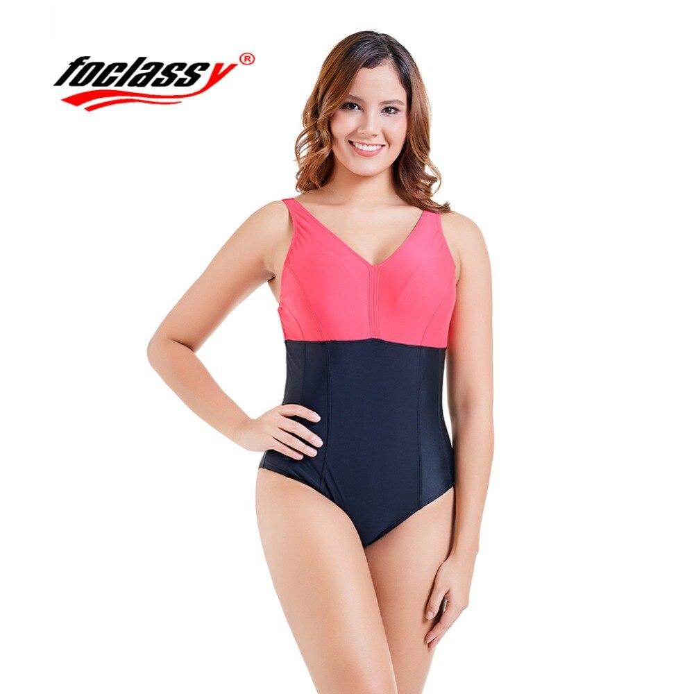 Foclassy Swimsuit Bikini 2018 Plus Size Swimwear Womens swimming suit Bandeau Bather Bathingsuit Beach Wear Maillot De Bain1821