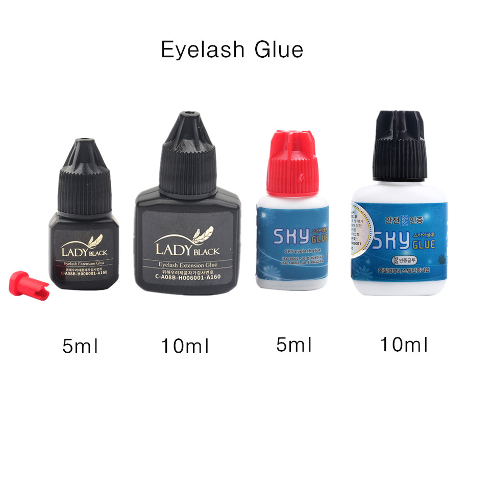 Professional 1 Bottle Fast Drying Eyelash Glue Korea Sky Glue For False Eyelash Extension No Sensitive Glue Strong Lash Adhesive
