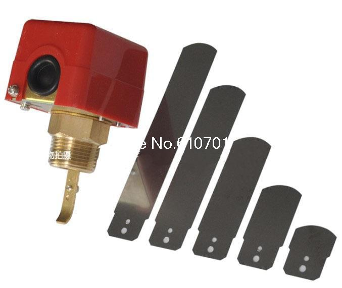1 220V 3A Water /Paddle Flow Switch BSPP Thread Connection SPDT Contacts Red contacts