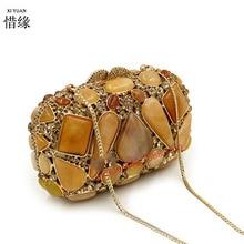 XIYUAN бренд для женщин роскошный полный алмаз Eveningbag высокого класса полный горный хрусталь сумка для ужина/клатч кошелек/Свадебная сумка Кошельки