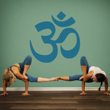 Om Symbol Yoga Wall Decal Spiritual Icon and Aum Sacred Sound hall wall stickers removeable vinyl decor decals G260